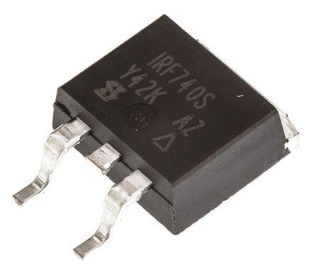 Vishay - IRF740SPBF - Vishay Si N沟道 MOSFET IRF740SPBF, 10 A, Vds=400 V, 3引脚 D2PAK封装