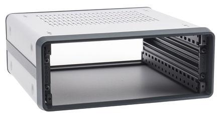Schroff - 14575023 - Schroff CompacPRO 系列 灰色/银色 铝/挤制铝 2U 通风 台式机箱 14575023, 102.6 x 257 x 271mm