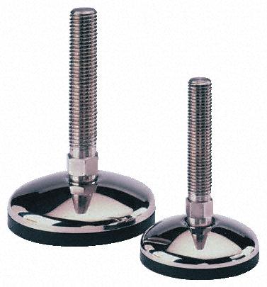 Nu-Tech Engineering - A105/028 - Nu-Tech Engineering 不锈钢 75mm直径 可调支脚 A105/028, 150mm螺钉长度, M20螺纹, 185mm总高