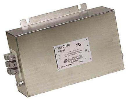 TE Connectivity - 25FCD10 - TE Connectivity 25FCD10 电源线过滤, 25 A, 480 V 交流, 246.1 x 160 x 64.8 mm