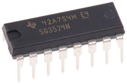 Texas Instruments - SG3524N - Texas Instruments SG3524N PWM 电压模式控制器, 双, 升压、降压、反激式、全桥/半桥, 100 mA输出, 450 kHz, 8 → 40 V电源, 16引脚 PDIP封装