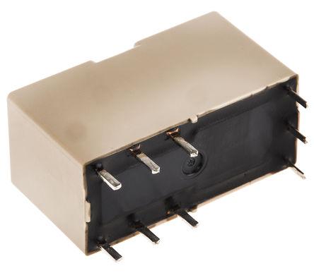 Panasonic - ADJ54012 - Panasonic ADJ54012 双刀双掷 PCB 安装 自锁继电器, 10 A, 12V dc, 适用于电源应用