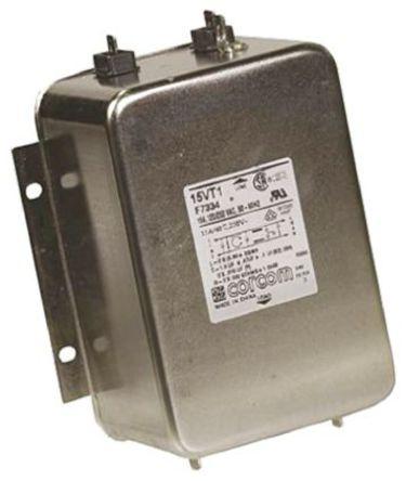 TE Connectivity - 15VT1 - TE Connectivity 15VT1 电源线过滤, 15 A, 250 V 交流, 138.4 x 100.6 x 55.4 mm