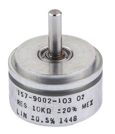 Vishay - 157S103MB9002 - Vishay 157 系列 10kΩ ±20% 线性 精密电位计 157S103MB9002, 1W, 3.17 mm 直径轴, ±600ppm/°C, 伺服安装