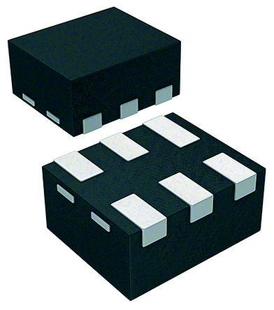 STMicroelectronics - ECMF02-2AMX6 - STMicroelectronics ECMF02 系列 200mA 信号滤波器 ECMF02-2AMX6, SMD, 平面接触接端, μQFN封装