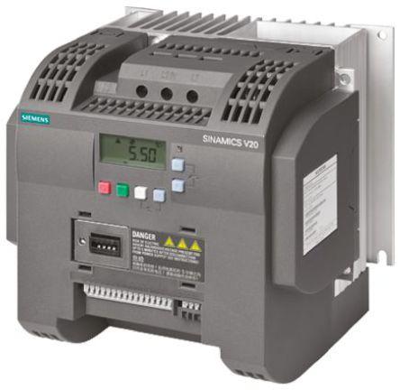 Siemens - 6SL3210-5BB23-0UV0 - Siemens SINAMICS V20 系列 IP20 3 千瓦 ��l器��� 6SL3210-5BB23-0UV0, 0 → 550Hz, 200 → 240 V 交流