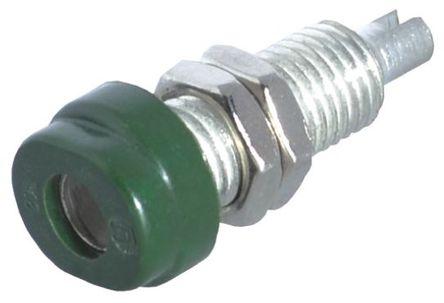 Hirschmann Test & Measurement - 930175104 - Hirschmann 930175104 绿色 4mm 插座, 30 V ac, 60 V dc 16A, 镀锡触点
