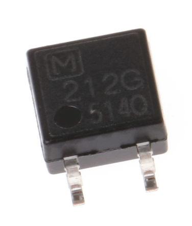 Panasonic - AQY212GS - Panasonic 1 A 表面贴装 单极常开 固态继电器 AQY212GS, MOS 照片输出, 交流/直流切换, 60 V