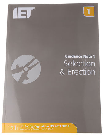 IET - 978-1-84919-271-2 - 《Guidance Note 1: Selection and Erection of Equipment》 作者: IET Publication