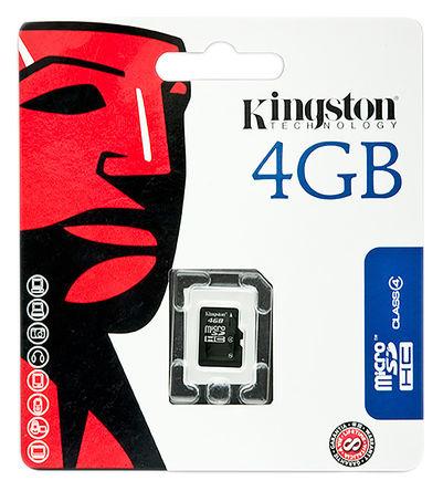 Kingston - SDC4/4GB - Kingston 4 GB MicroSDHC卡