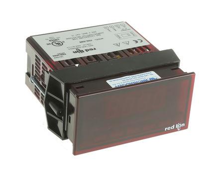 Red Lion - PAXLVD00 - Red Lion PAXLVD00 3.5位 LED显示 直流 数字面板式电压表, 0°C至60°C