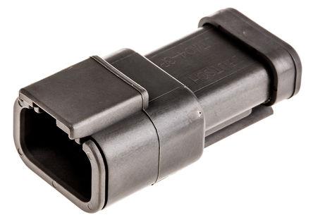 Deutsch - DTM043P-E003 - Deutsch DTM 系列 3路 灰色 母 连接器 DTM043P-E003, 压接端接