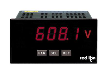 Red Lion - PAXLA0U0 - Red Lion PAXLA 系列 PAXLA0U0 5位 LED显示 直流 数字面板式电压表, 0°C至+50°C