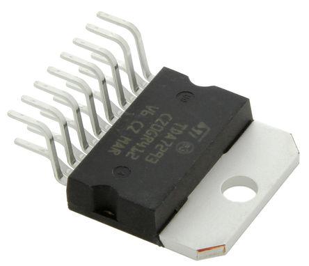 STMicroelectronics - TDA7293V - STMicroelectronics TDA7293V AB 类 单声道 扬声器放大器, +70 °C, 100 W @ 4 Ω最大功率, 15引脚 MULTIWATT V封装