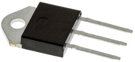STMicroelectronics - BTA26-600BWRG - STMicroelectronics BTA26-600BWRG 三端双向可控硅开关元件, 25A额定, 600V峰值, 50mA 1.3V触发, 3引脚 TOP3封装