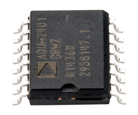 Analog Devices - ADUM2401BRWZ-RL - Analog Devices ADUM2401BRWZ-RL 4通道 数字隔离器, 5 KVrms隔离电压, 16针 SOIC
