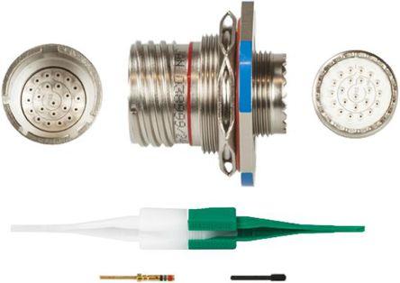 ITT - KJB7T13F35PN - ITT KJB 系列 22路 面板安�b �B接器 螺�y 插座 KJB7T13F35PN, 公�|芯, 外�こ叽�13, MIL-DTL-38999
