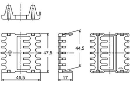 Panasonic - AKT4H801 - Panasonic 46.5 x 47.5 x 17mm 接线端子盖 AKT4H801, 使用于KT 温度控制器