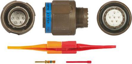ITT - KJB6T11W98PN - ITT KJB 系列 6路 ��|安�b �B接器 螺�y 插�^ KJB6T11W98PN, 公�|芯, 外�こ叽�11, MIL-DTL-38999