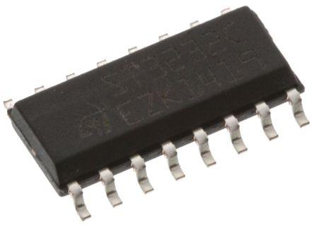 STMicroelectronics - ST3232CDR - STMicroelectronics ST3232CDR 400kbps 线路收发器, RS-232接口, 2-TX 2-RX, 3.3 V、5 V单电源, 16引脚 SOIC封装