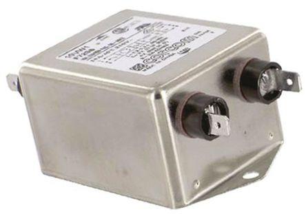 TE Connectivity - 10VW1 - TE Connectivity 10VW1 电源线过滤, 10 A, 250 V 交流, 98 x 52.8 x 38.9 mm
