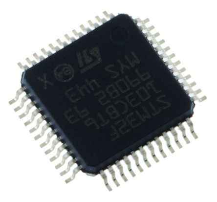 STMicroelectronics - STM8L052C6T6 - STMicroelectronics STM8L 系列 8 bit STM8 MCU STM8L052C6T6, 32MHz, 32 kB ROM 闪存, 2 kB RAM, LQFP-48