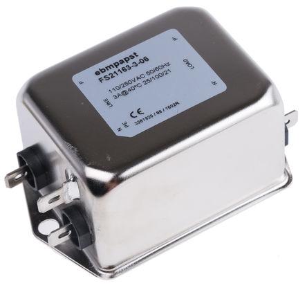ebm-papst - 920-CON0085-30 - ebm-papst 920-CON0085 系列 谐波滤波器 920-CON0085-30, 3A, 230 V ac, 法兰安装安装