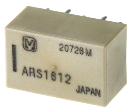 Panasonic - ARS1612 - Panasonic 单刀双掷 PCB 高频继电器 ARS1612, 3GHz, 12V dc