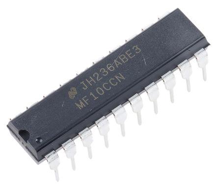 Texas Instruments - MF10CCN/NOPB - Texas Instruments 双 4阶 通用滤波器 MF10CCN/NOPB, 开关电容结构, 30kHz, 20针 MDIP封装