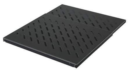 Rittal - 5501665 - Rittal 黑色 钢 0.5U 可调架子 5501665, 带通风, 600mm深, 483mm宽, 最大50kg 负载