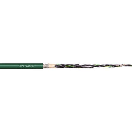 Igus - CF6.02.04 - Igus 4 芯 24 AWG 屏蔽 绿色 聚氯乙烯 PVC护套 执行器/传感器电缆 CF6.02.04, 7.5mm 外径