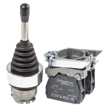 Schneider Electric - XD4PA12 - Schneider Electric XD4PA12 IP66 2轴 操纵杆控制器, 常开, 螺丝接端, 220 mA, 600V, -25 → +70°C