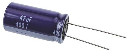 Panasonic - ECA2GM470 - Panasonic M 系列 400 V 直流 47μF 通孔 铝电解电容器 ECA2GM470, ±20%容差, 最高+85°C