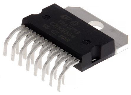 STMicroelectronics - TDA7293HS - STMicroelectronics TDA7293HS AB 类 单端 音频放大器, +70 °C, 100 W @ 4 Ω最大功率, 15引脚 MULTIWATT H封装