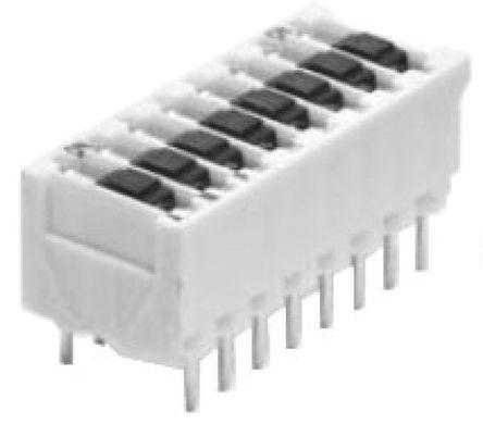 TE Connectivity - 5161390-4 - TE Connectivity 5161390-4 4位置 滑动 通孔 DIP 开关, 单刀单掷, 500 mA@ 50 V 直流