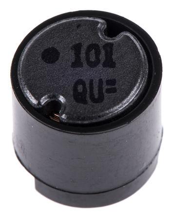 Panasonic - ELC09D101F - Panasonic ELC08D 系列 100 μH ±10% 铁氧体 ELC09D101F 引线型电感器, 820mA Idc, 200mΩ Rdc, 9.5mm直径
