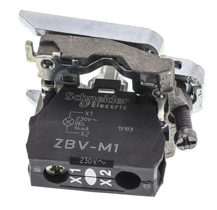 Schneider Electric - ZB4BVM1 - Schneider Electric XB4 系列 照明块 ZB4BVM1, 230 → 240 V, 白色 LED, 螺钉接端