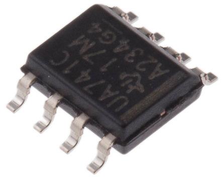 Texas Instruments - UA741CD - Texas Instruments UA741CD 运算放大器, 1MHz增益带宽积, 8引脚 SOIC封装