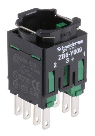 Schneider Electric - ZB6Z3B - Schneider Electric XB6 系列 接触块 ZB6Z3B, 2 常开, Faston 连接器接端