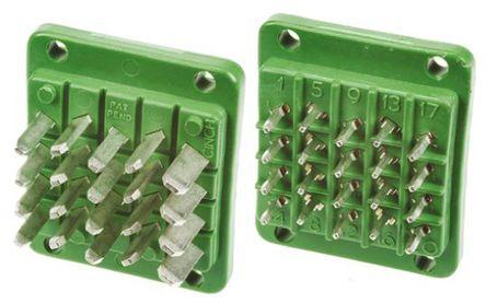 Cinch - JA778500000E000 - Cinch 20路 面板安装 绿色 公 连接器 JA778500000E000