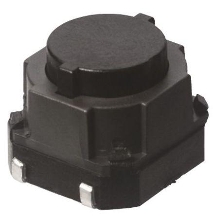 Panasonic - EVQQ1D06M - Panasonic 天然色 推入板 轻触式开关 EVQQ1D06M, 单刀单掷 - 常开, 50 mA @ 12 V 直流 6.5mm