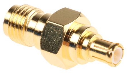 RF Solutions - ADP-SMAF-MCXM - RF Solutions 50Ω 直 射频适配器 ADP-SMAF-MCXM, 3GHz, SMA 插座 到 MCX 插头, 金镀镍触芯