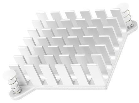 ABL Components - BGA PP 030 - ABL Components 本色 散热器 BGA PP 030, 7K/W, 胶粘箔片安装, 49 x 49 x 35mm