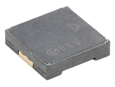 Murata - PKLCS1212E40A1-R1 - Murata 75dB 表面贴装 发声器音调 外部驱动 压电蜂鸣器 PKLCS1212E40A1-R1, 最大为 4000 Hz