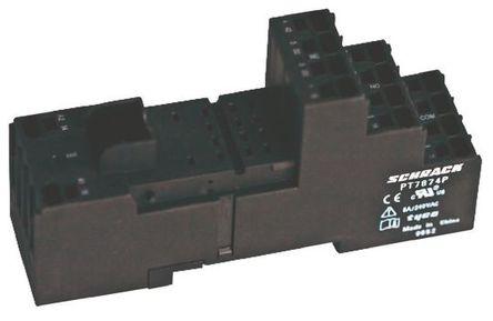 TE Connectivity - PT7874P 1860000-1 - TE Connectivity 继电器插座 PT7874P 1860000-1, 适用于PT Series