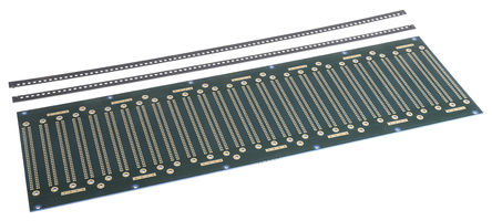 Vero Technologies - 222-29824 - Vero Technologies 222-29824, 64触点 DIN 41612 Eurocard 背板, FR4底座材料 单面, 84hp 15.24mm(3HP)