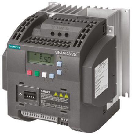 Siemens - 6SL3210-5BB21-5AV0 - Siemens SINAMICS V20 系列 IP20 1.5 kW ��l器��� 6SL3210-5BB21-5AV0, 0 → 550 Hz, 7.8 A, 200 → 240 V 交流