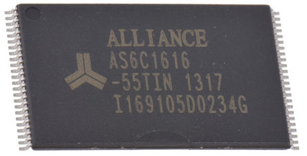 Alliance Memory - AS6C1616-55TIN - Alliance Memory AS6C1616-55TIN, 16Mbit SRAM �却�, 1024K x 16 位, 1MHz, 2.7 → 3.6 V, 48� TSOP封�b