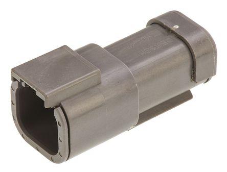 Deutsch - DTM044P-E003 - Deutsch DTM 系列 2行 4路 灰色 母 连接器 DTM044P-E003, 压接端接