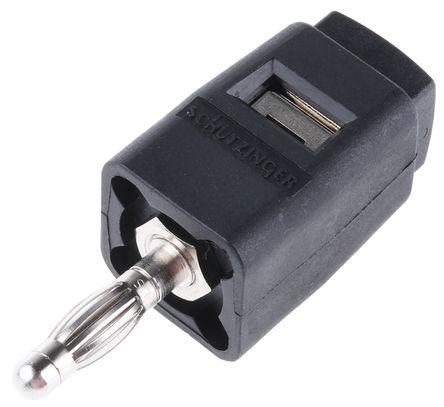 Schutzinger - SDK 502 / SW - Schutzinger SDK 502 / SW 黑色 香蕉插头, 30 V ac, 60 V dc 16A, 镀镍触点